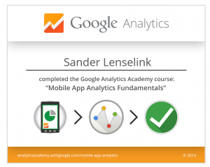 Mobile App Analytics Fundamentals - Certificate