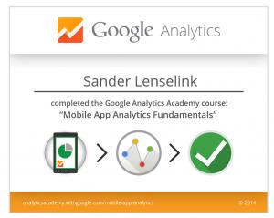 Sander Lenselink - mobile analytics